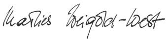Unterschrift Marlies Weigold-West